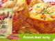 Muffin proteic cu Beef Jerky și ardei - Ediție specială de Paște